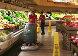 Cleaning Produce Aisle With Nobles Floor Scrubber