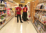Scrubbing And Mopping Aisle