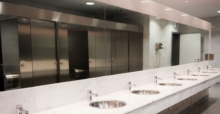 large public bathroom. restroom cleanliness: the key to repeat business large public bathroom l
