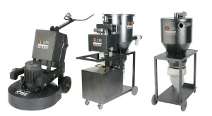 Image of CPS 320D Grinder with Cat-5 Vacuum and Cat-5 Dust Interceptor